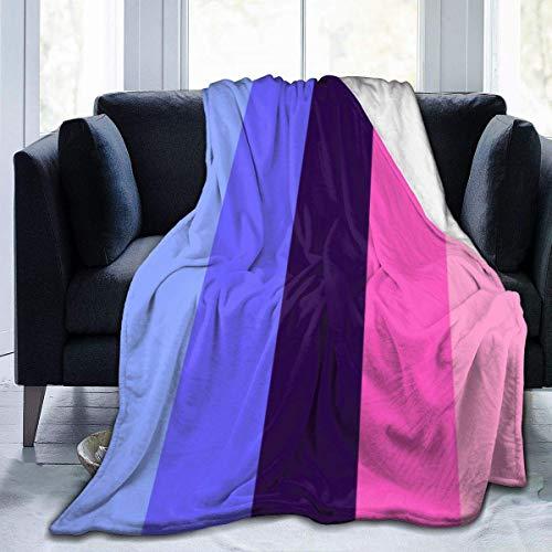 Omnisexual Omni - Manta de forro polar con bandera de orgullo sexual, manta de franela mullida para guardería, dormitorio, ropa de cama, tamaño Queen King, felpa suave y acogedora