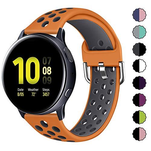 KIMILAR Pulseras Compatible con Samsung Galaxy Watch 42mm/Watch Active/Active 2 (40mm/44mm), Silicona...