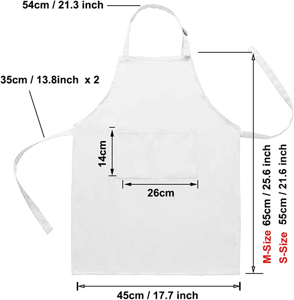 Seatery 4PCS Kids Apron Set Boys Girls Aprons for Kitchen Cooking Baking Painting Wear Chef Hat Apron and Sleeves