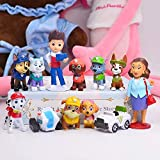 12PCS Paw Patrol Cake Topper and Cup Cake Topper, Paw Patrol Children's Birthday Shower Party cake Supplies
