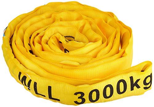Braun 30041RS - Correa transportadora (poliéster, resistencia: 3000 kg, 2 m), color amarillo