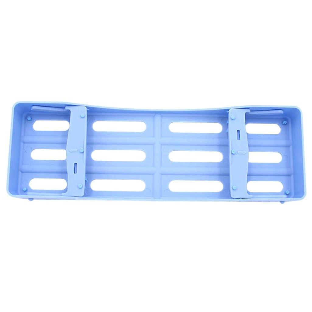 数バルコニードメインHEALLILY プラスチック製の歯科用カセット滅菌消毒トレイ3個用ツール収納用(ブルー)