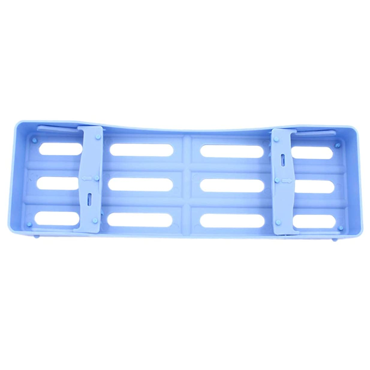 貸し手ではごきげんようアンペアHEALLILY プラスチック製の歯科用カセット滅菌消毒トレイ3個用ツール収納用(ブルー)