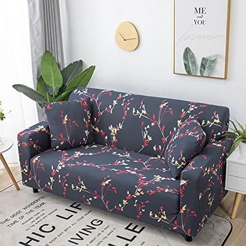Funda Sofas 2 y 3 Plazas Sucursales Fundas para Sofa con Diseño Elegante Universal,Cubre Sofa Ajustables,Fundas Sofa Elasticas,Funda de Sofa Chaise Longue,Protector Cubierta para Sofá