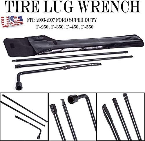 wholesale For Ford Super online Duty F250 F350 F450 F550 Protable Spare Tire Lug Wrench Repair Tool Kit popular for Jack with Carry Case outlet sale