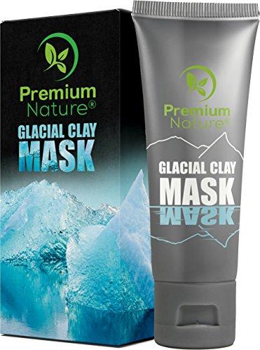 Glacial Clay Face Blackhead Mask - 100% Natural Facemask for Dark Spots Wrinkles & Acne Scar Treatment Deep Pore & Black Head Eliminator Minimizer Remover Facial Cleanser Wash Masks Detox & Brighten