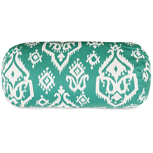 Majestic Home Goods Raja Round Bolster Pillow, Jade