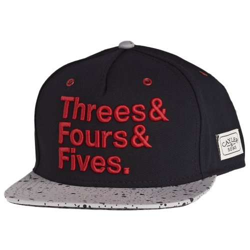Cayler And Sons - Casquette Snapback Homme Jays Cap - Black/Cement/Red