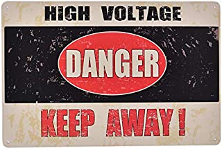 +Urbano HIGH Voltage Danger Keep Out Vintage Retro Tin Sign Home Pub Bar Deco Wall Decor Poster Size 8