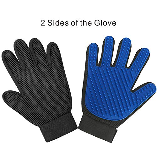 Allpets Pet Grooming Gloves Great for all pets including dogs, cats, horses and many more