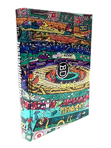 DIARIO SCUOLA Bastardidentro Bastardi Dentro Edizione Limitata Speciale Multicolor Dinamicamente Standard datato 2021-2022 18x14cm + Omaggio portachiave Gioco cubo