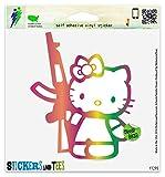 hello kitty gun car decal - Hello Kitty Machine Gun Vinyl Car Bumper Window Sticker 5