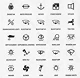 25 Symbole f. Schaltpaneel & Schalter -