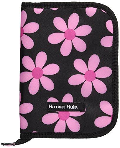 Hanna Hula ハンナフラ Hanna Hula 母子手帳ケース マルチケース Mサイズ レトロフラワーピンク