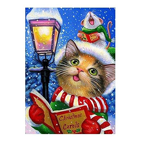 prettygood7 5D diamant borduurwerk schilderij DIY kerst kat kerstmis ambacht muur Decor