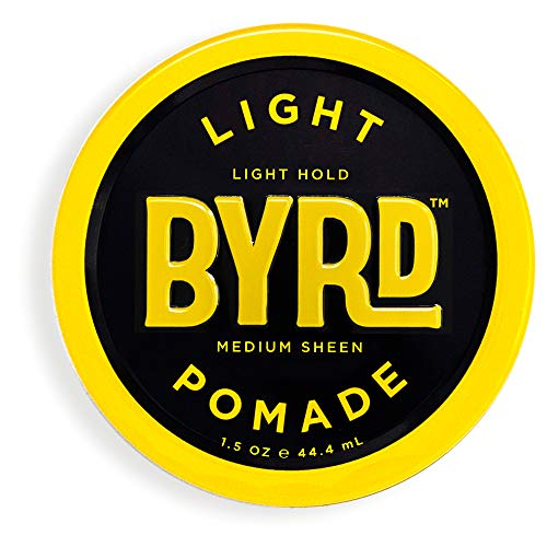 BYRD Light Pomade - Light Hold, Medium Sheen, For All Hair Types, Mineral Oil Free, Paraben Free, Phthalate Free, Sulfate Free, Cruelty Free, 1.5 Oz