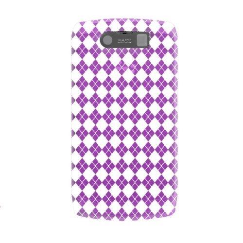 Katinkas weiche Checker Hülle für BlackBerry Storm 2 9520 lila