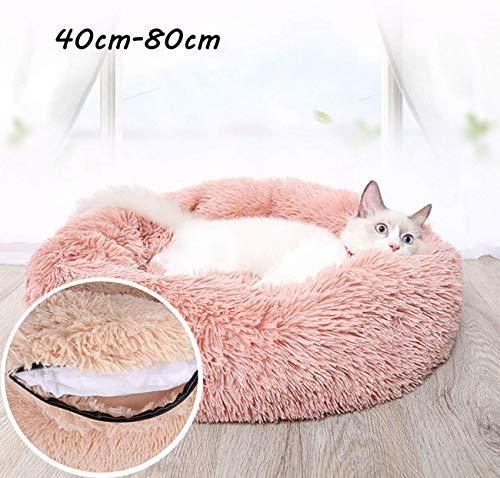 YLCJ Kussen voor babybedje voor honden en katten met onafhankelijke verwarming in synthetisch bont, verwijderbaar, gemakkelijk schoon te maken, machinewasbaar en antislip, om gewrichten te verlichten en beter te slapen, 70 cm, 80cm