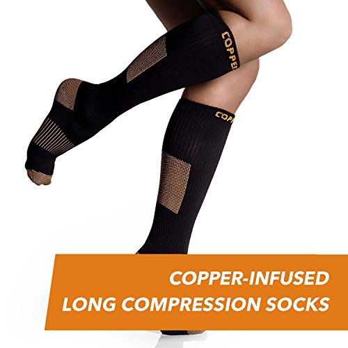 CopperJoint Long Compression Socks - Copper-Infused, Comfortable and Durable Design, Help Joint and Muscle Recovery