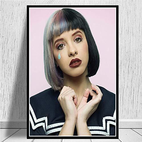 BGFDV Cartel de Pintura de Lienzo nórdico Moderno Melanie Martinez Cantante de música Pop Estrella decoración Familiar Pintura Mural decoración de Pared