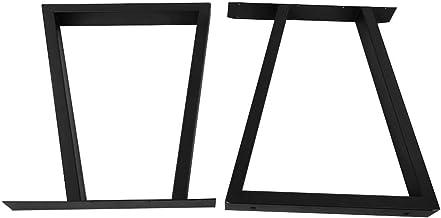 Cikonielf 2 stuks tafelpoten van staal, draagvermogen 100 kg, industriële tafelpoten 72 x 60 cm