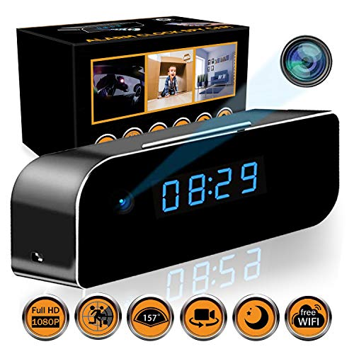 State-of-The-Art Wireless Hidden Camera Clock | Motion Detection Alarm Clock Camera | Spy Camera Clock with Night Vision | HD Recording Camera Clock | Clock Spy Camera & Hidden Cam Remote