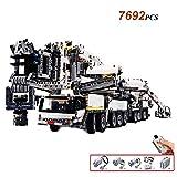 ZUJI Technic Gru 7692 Pezzi Gru Telecomandata con Motore Liebherr Gru Modello Set di Costruzioni, Compatibile con i Principali Marchi