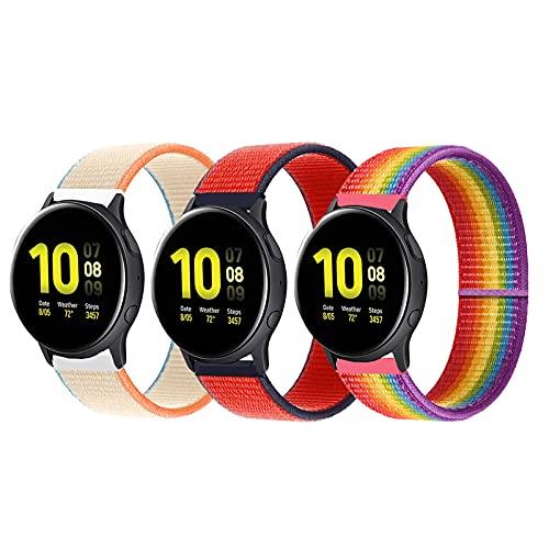 Bezyeer Sostituzione cinturino in nylon Sport compatibile con Huawei GT 2 Pro Sumsung Galaxy Watch 3 S3 Cinturino Garmin 22mm (3 pezzi)