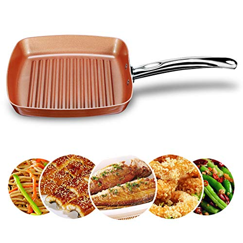 JTJxop Rectangle Frying Pan, Omelette Pan/Egg Pan, Mini Non-Stick Frying Pan, 100% PFOA-Free, Gas Stove and Induction Hob Compatible 10.2Inch,A