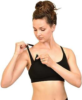 Bamboobies Nursing Bra   Medium   Black   Yoga Nursing Bra   Maternity Clothes for Breastfeeding   Size M