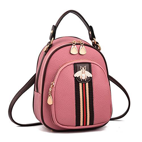 AQGELSJB Koreanische Version Umhängetasche Rucksack Einfache Handtaschen Mode Rucksäcke @ B Wespe Schultergummi Pulver