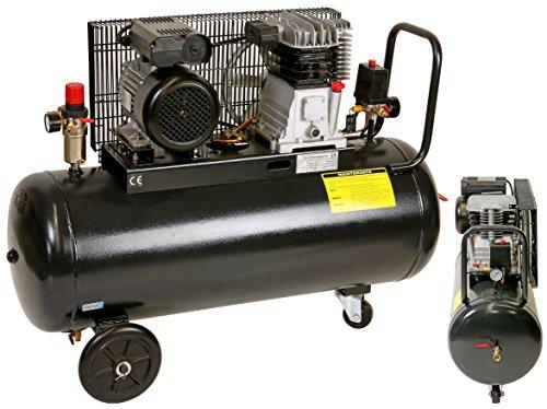 Pro-Lift-Gereedschappen compressor 2,2 kW luchtcompressor 8 bar 230 V afgegeven hoeveelheid 170 l/min werkplaatscompressor persluchtketel 100 l