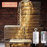 NA. RipengPI Dekorative Twinkle Starry Lights 10 Stränge 200 LED Wasserfall Baum Rebe Lichterkette...