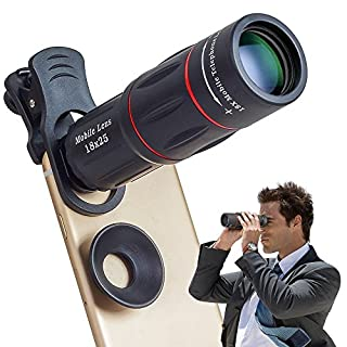 Apexel Phone Camera Lens,18X Optical Camera Mobile Zoom Lens Manual Telescope Lens with Clamp for iPhone X/8 7/6S/6 Plus/5/4 Samsung and Most Android Smartphones (B075R6MY99) | Amazon price tracker / tracking, Amazon price history charts, Amazon price watches, Amazon price drop alerts