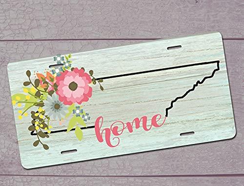 Pealrich Decorative Car Front License Plate, Tennessee Tristar License Plate, Tennessee State License Plate, Tennessee Home Car Coasters, 6 X 12 Inch
