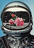 Bdgjln Puzzle 1000 Piezas-Astronauta Rosa-Juegos Niños Navidad Puzzle Rompecabezas Regalos Hombre Mujer Puzzles para Adultos-50x75cm