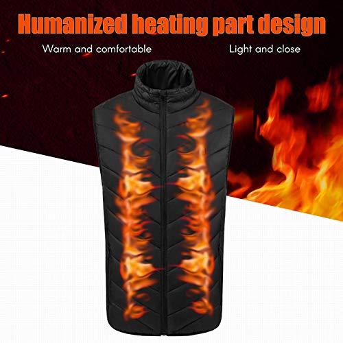 WERFFT USB elektrisch verwarmd vest wasbaar warm ontwikkeld airconditioning fleece voor kleding en wintervest dames mannen verwarmingslaag
