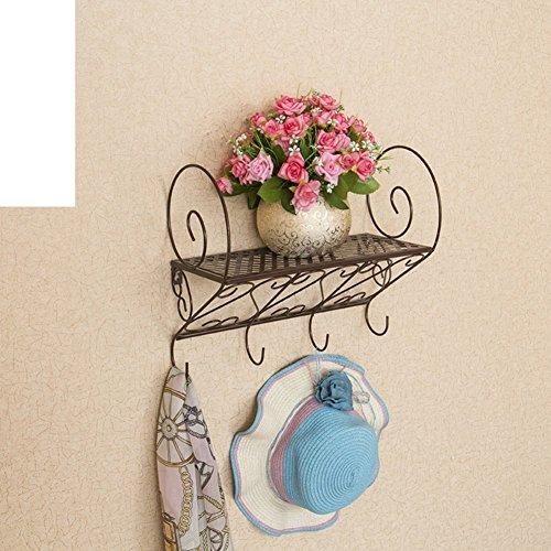 Jardín forja pared/Estante/baño/cocina/Perchero/repisa/flor-B