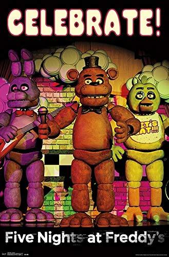 Five Nights at Freddy's - Celebrate Poster Drucken (55,88 x 86,36 cm)
