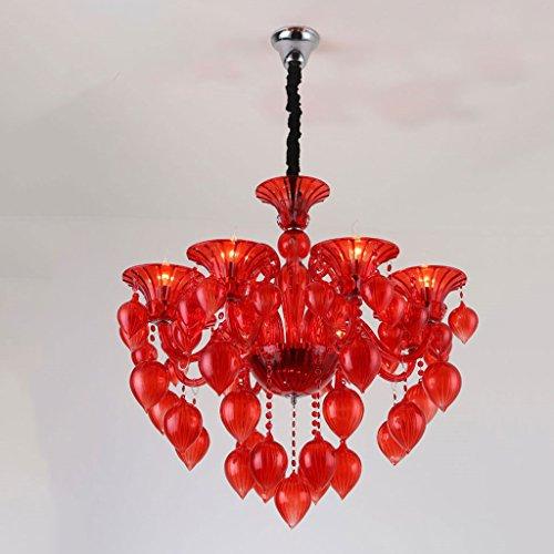 Vast licht 8-deurs warm licht energiebesparing kroonluchter decoratieve lamp voor de woonkamer van kristal violet hangend 80 cm * 75 cm 307