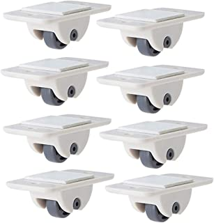4 pezzi ruote per mobili ruote ruote per rotelle ruote girevoli adesive per scatola di immagazzinaggio della pattumiera puleggia scatola di immagazzinaggio