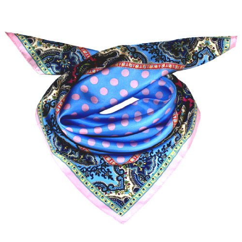 Lorenzo Cana Luxus Seidentuch aufwändig bedruckt Tuch 100% Seide 70 x 70 cm harmonische Farben Damentuch Schaltuch 89053