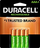 Duracell - Rechargeable AAA Batteries - long lasting, all-purpose Triple A battery for household and business - 4 count