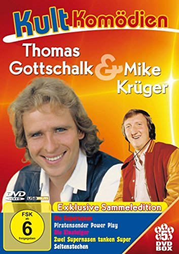 Kultkomödien mit Thomas Gottschalk & Mike Krüger - 5DVD-Sammeledition (Die Supernasen, Piratensender Powerplay, Die Einsteiger, Zwei Nasen tanken super, Seitenstechen)