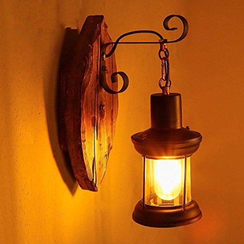 DSJ wandlamp enkele kop industrie vintage retro hout metaal schilderij kleur wandlamp voor het huis / hotel / gang decoreren wandlamp
