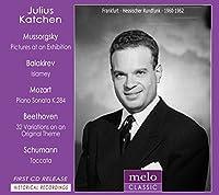 ムソルグスキー:展覧会の絵、バラキレフ:イスラメイ、モーツァルト:ピアノ・ソナタ第6番、シューマン:トッカータ、他 カッチェン(1960、62)