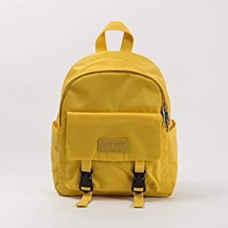 YXLZZO Backpack Simple Solid Color Backpack Oxford Spinning Waterproof Fashion Computer Bag (Color : Yellow)