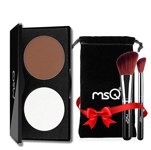 SMX&xh Visage Ombrage Poudre Contour Surligneur Tondant Poudre Maquillage Visage Poudre 2 Couleur , 001
