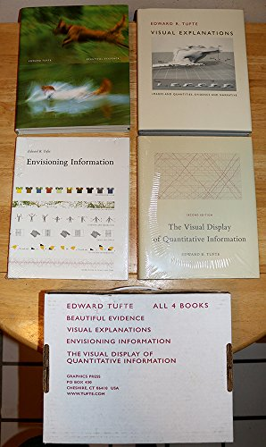 Edward Tufte: Beautiful Evidence / Visual Explanations / Envisioning Information / The Visual Display of Quantitative Information