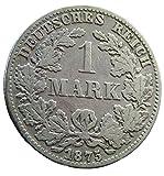 orig. Silbermünze 1 Mark 1875 B ss+/vz Deutsches Reich - Kaiserreich - Kursmünze/Münze
